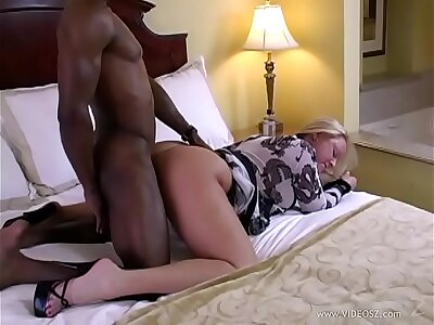 Hot White Fair-haired Milf fucks BBC