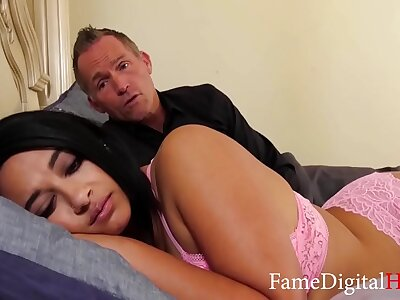 Fucking My Chubby Pitch-dark Daughter- Emori Pleezer